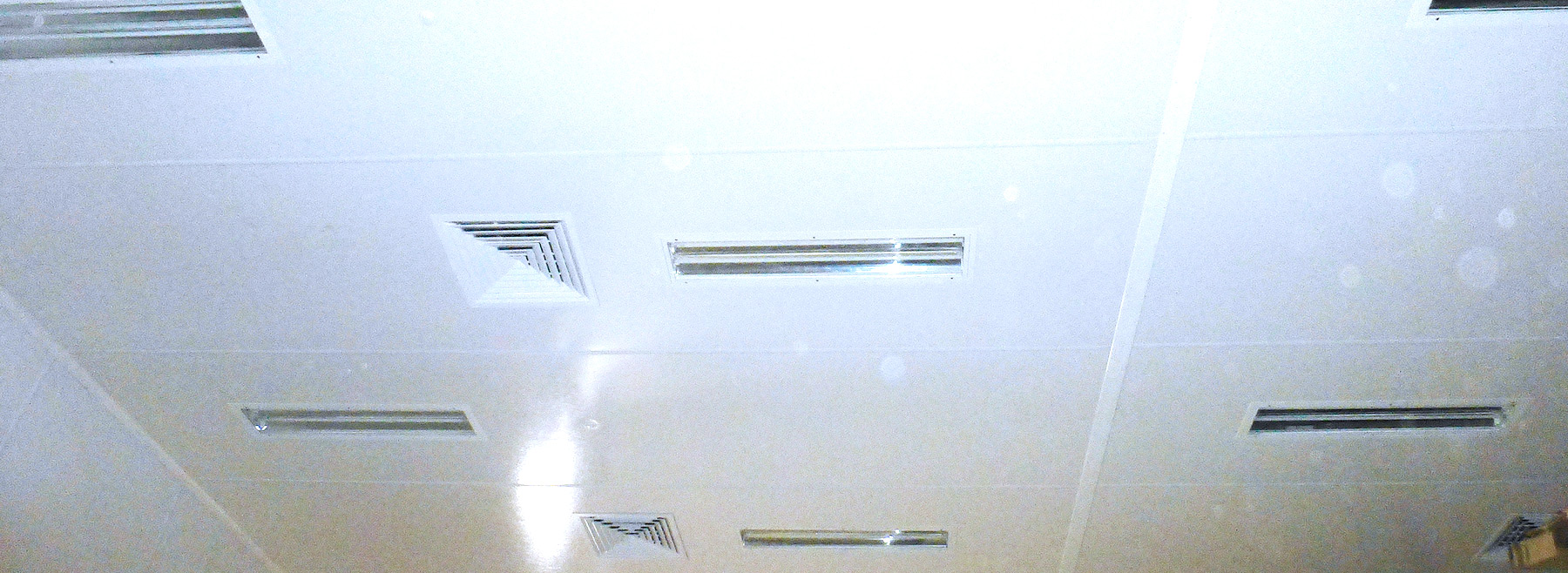 Ceiling with HygiLight and HygiCeiling