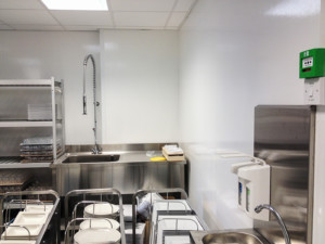 Kitchen with FRP sheet