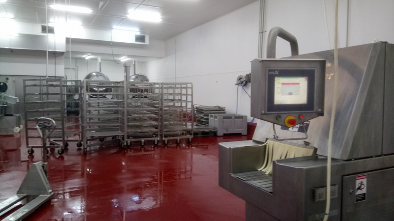 hygienic FRP walls in meat processing