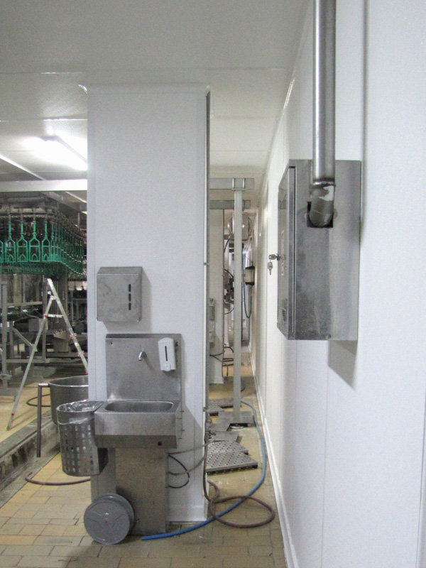 hygienic FRP wall and ceiling in slaughterhouse