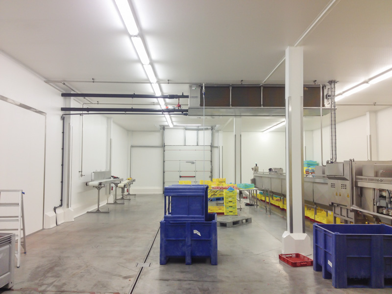 hygienic FRP walls and ceiling in slaughterhouse