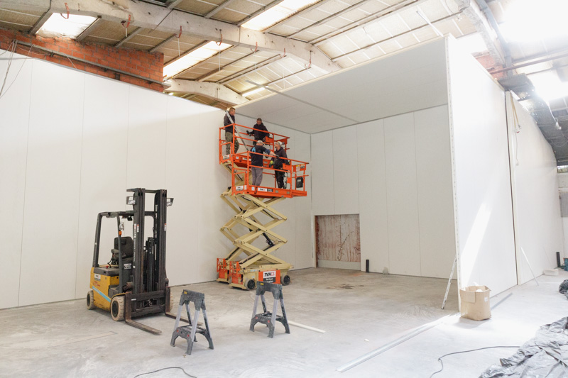 renovation with hygienic hygiwalls