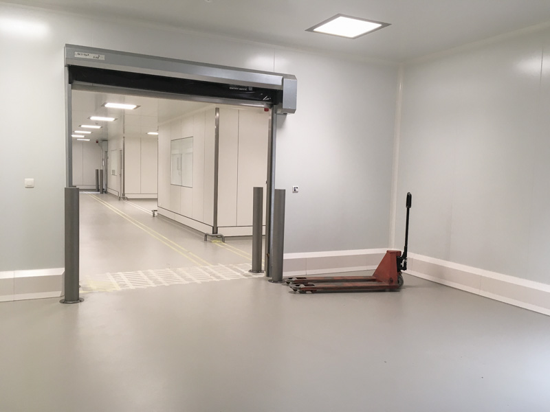 gateway in bakery with hygienic walls