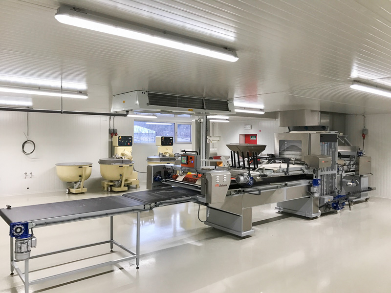 view on hygienic production area bakery