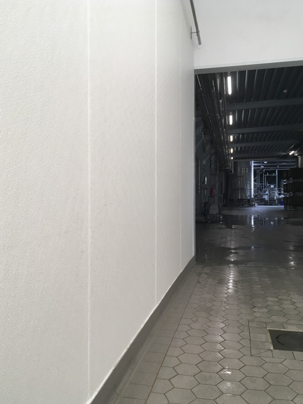 brewery hygienic wall in production