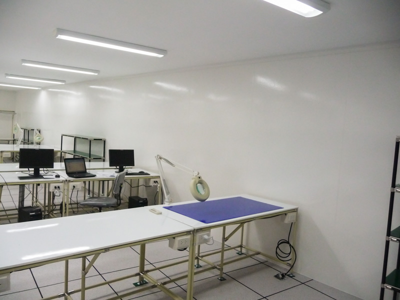 cleanroom environment with FRP panels