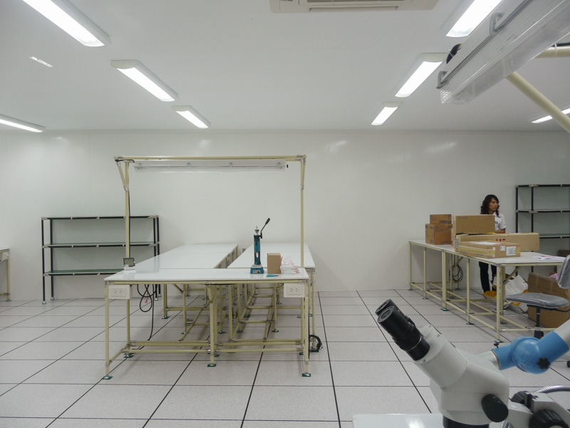 Smooth FRP wall in electronics production