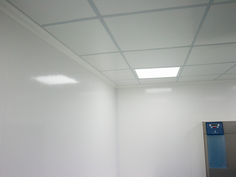 hygienic and smooth walls in a hospital