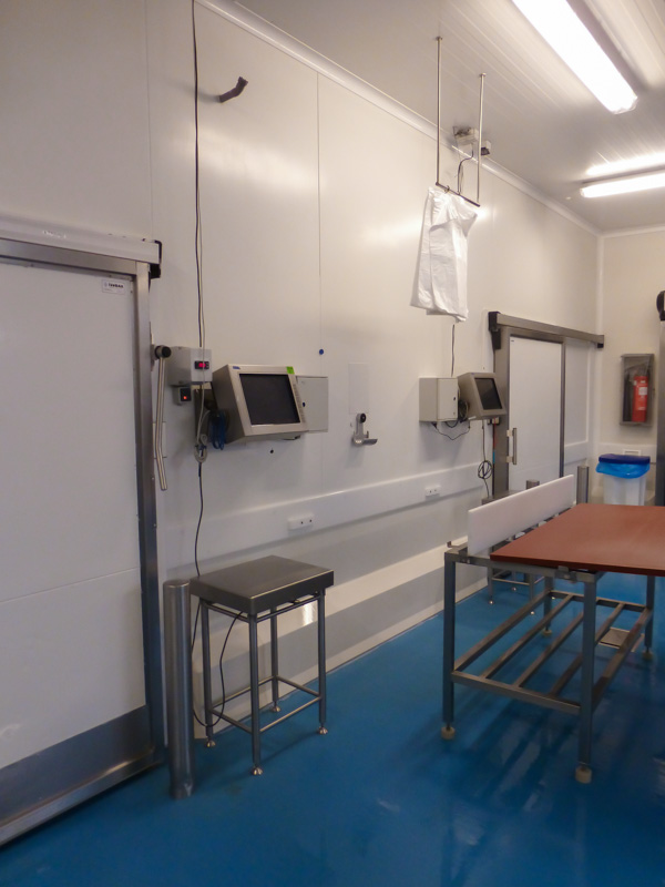 fish processing hygienic and durable wall