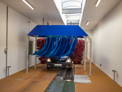 carwash renovation with FRP panels